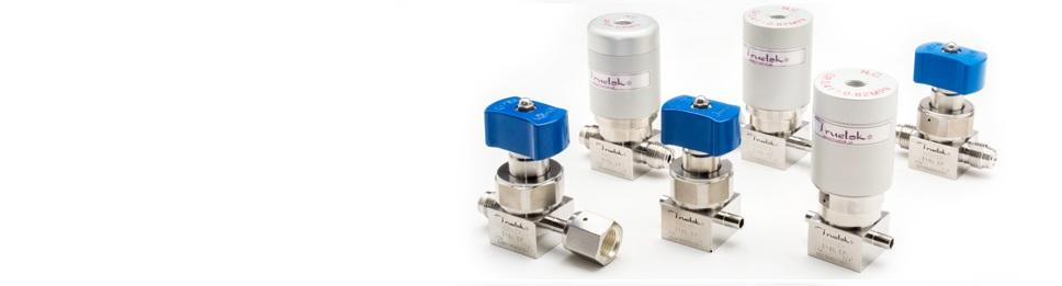 Spring-less Diaphram Valves